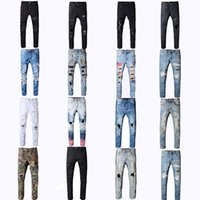 Wholesale jeans for sale - New Miri Jeans denim straight biker skinny jeans Casual Trousers Cowboy Famous Brand Zipper Designer Hot Sale Mens Designer Jeans