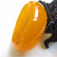 ingrosso braccialetti di giada gialla-celet Xinjiang Hetian giada braccialetto giallo giada seta oro Gobi allargato Topazio