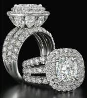conjunto de joyas esmeralda 925 al por mayor-Victoria Wieck impresionante joyería de lujo par de anillos de plata de ley 925 pera cortada zafiro esmeralda multi piedras preciosas anillo nupcial de la boda