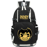 Wholesale boy machines - Bendy and the ink machine backpack New simple day pack Game school bag Leisure packsack Quality rucksack Sport schoolbag Outdoor daypack