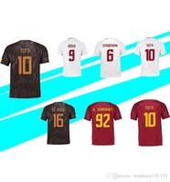 Wholesale Red Shirt Guy - AAA+ Quality 17 18 TOTTI Soccer Jerseys 2018 NAINGGOLAN DE ROSSI Customized Football Shirts DZEKO EI SHAARAWY Fat Guy jersey S-4XL