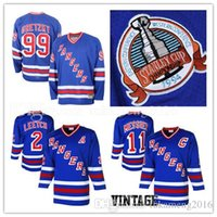 Wholesale leetch rangers jersey - New York Rangers 2# Brian Leetch 11# Mark Messier Hockey Jersey CCM Men's Embroidery And 100% Stitched 99# Wayne Gretzky NHL Jerseys