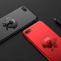 подставка для iphone оптовых-eClouds 360 защитный чехол для телефона для iPhone X 8 8plus 7 7plus мультфильм собака держатель мобильного телефона стенд для iPhone 6 6s Plus