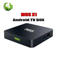 melhores tvs 3d venda por atacado-Best selling android 6.0 TV CAIXA M9S X1 Amlogic S905X quad core 1 GB / 8 GB H.265 4 k 3D inteligente media player PK A95X MXQ PRO 4 K