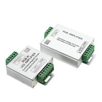 verstärker für led-streifen großhandel-Edison2011 LED RGBW / RGB-Verstärker DC12 - 24V 24A 4-Kanal-Ausgang RGBW / RGB LED-Streifen-Power Repeater Console Controller