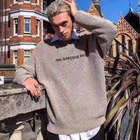 jersey de punto para hombre al por mayor-18FW suéter europeo de lujo suéter conjunto suéter de punto cálido moda de alta calidad mujeres y hombres diseñador suéter HFBYWY166
