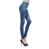 брюки с длинными ногами оптовых-2017 Autumn Ladies' Classic Stretchy Slim Leggings Solid Color Print Jean Skinny Legging Fashion Big Size Hot Sale Pants