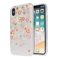 Wholesale Glitter Stickers For Phones - Relief Painting Glitter Bling phone case For ZTE Zmax pro Z981 Z max pro 2 Z982 TPU+PC+Sticker 3 in1 Anti-Fall Phone Case