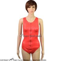 ingrosso vestiti caldi del lattice-Red Catsuit sexy lattice con cerniera sul retro Bondage Rubber Fetish Body Suit Plus Size Vendite calde LTY-0007
