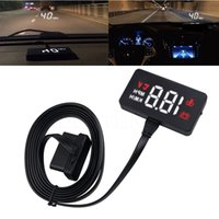 Original A100 Hud Head Up Display Car Obd2 Ii Euobd Overspeed Warning System Auto Electronic Voltage Alarm Windshield Projector A100 Various Styles Head-up Display