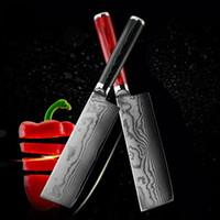 ingrosso coltello in acciaio giapponese-nuovo coltello damasco in acciaio damasco coltello da cuoco 6,5 pollici 71 strati coltello da cucina damasco giapponese