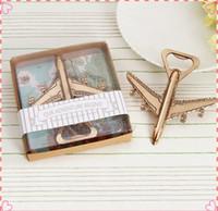 recuerdos avión al por mayor-100 unids / lote + Souvenirs de boda Avión Abrebotellas Antiguo Abrebotellas Regalo Favores y regalos de boda para invitados + ENVÍO GRATIS