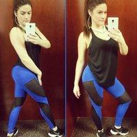 schwarze knöchellangen leggings großhandel-Neue heiße schnell trocknende Frauen-Sport-Garn-Gamaschen-Art- und Weiseknöchellangengamaschen-Eignungs-Schwarz-Leggins-Art und Weisegroßverkauf