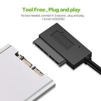 ssd sata 1,8 toptan satış-USB 3.0 Mikro SATA 7 + 9 16Pin Kablo Harici Sabit Disk Dönüştürücü için 1.8
