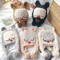 Wholesale knitting hat owl kids for sale - Group buy Baby Boys Girls Owl Caps Kids Winter Animal Knit Hat Warm Bonnet Enfant Wool Hats Ear Protective For Children Cartoon Cute