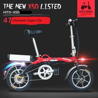 Wholesale folding electric bike lithium battery - Electric folding bikes and bicycle 2018 new urban style folding bikes, convenient, flexible and lightweight, suitable to and from work, the