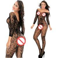 ingrosso donne di sesso femminile-Sexy Lingerie delle donne Tuta Caldo Bodystocking Calze a rete Costumi sexy Intimo Prodotti del sesso Gridatura Lingerie erotica Sex Toys