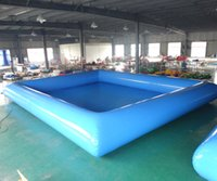 Wholesale inflatable swim set resale online - 2018 factory price hot sale big inflatable big swimming pool for kids amusement