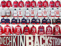 Wholesale Men S Toms - 2018 Washington Capitals Hockey 8 Alex Ovechkin 43 Tom Wilson 77 T.J. Oshie Nicklas Backstrom 70 Braden Holtby 92 Evgeny Kuznetsov Jersey