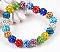 brassards en strass achat en gros de-Le moins cher !! Boules de cristal perles Bracelets Strass Ball brillant Bracelets Stretch Bijoux Bracelets Bijoux Bracelets de charme!
