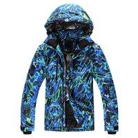 Wholesale Winter Snowboard Coat Men - Wholesale- New Ski Jackets men windproof warm coat male waterproof snowboard jacket teenagers Outdoor sport clothing winter send Russia