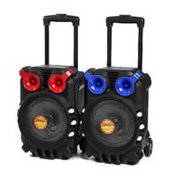 lautsprecher usb china großhandel-Party Lautsprecher Bluetooth Audio Lautsprecher Licht Singen TFT Display USB TF Karte BT Karaoke KTV