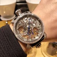 Wholesale Watch Gaga - 48mm Italy gaga quartz men watch fashion cool mechanical wristwatch hollow-carved MANUALE WRISTWATCH WATER RESISTANT