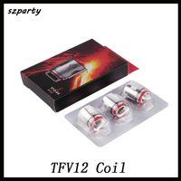 bobinas de reemplazo de vape al por mayor-TFV12 Cabezal de repuesto V12 T12 T8 T6 X4 Q4 Atomizador para TFV12 Tank Beast Cloud Monster Vape DHL gratuito 0266121