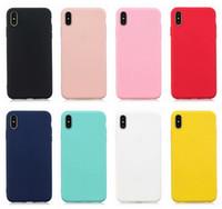 yumuşak hücrenin telefonunu toptan satış-Ultra İnce Mat Yumuşak TPU Kılıf Iphone XR XS MAX X 8 7 6 6 S Artı Kılıfları Silikon Kauçuk Geri Düz Ince Iş Cep Telefonu Cilt Kapak