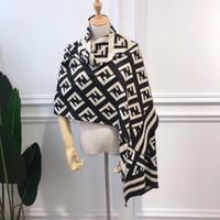 ponchos de cachemira al por mayor-Bufanda de Cachemira de lujo Diseñador Diseño de la Marca de Moda Otoño Invierno 180 * 65 CM Mujeres Bufanda Clásica Pashmina Mantón Envoltura