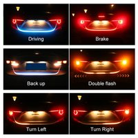 Wholesale brake lights for sale - Car Styling Turn Signal Amber Flow Led strip trunk Tail Light Ice Blue LED DRL daytime running light RED Brake Light