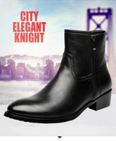 Wholesale pointed boots brands for men resale online - Ankle boots for men fashion genuine leather boots brand designer footwear ins martin boots elegant shoes zy846