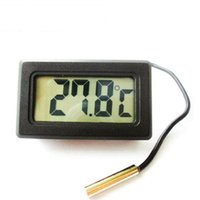 Wholesale digital thermometer temperature meter gauge resale online - Electronic Digital Thermometer Temperature Meter Fish Tank Water Temperature Gauge Advanced Refrigerator Thermometer with Waterproof Probe