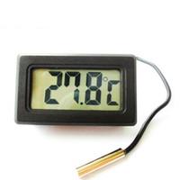 medidor de termómetro al por mayor-Termómetro digital electrónico Medidor de temperatura Tanque de peces Medidor de temperatura del agua Termómetro de refrigerador avanzado con sonda impermeable