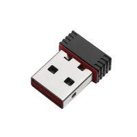 usb wifi adaptörü toptan satış-Nano 150 M USB Wifi Kablosuz Adaptör 150 Mbps IEEE 802.11n g b Mini Antena Adaptörleri Yonga Seti MT7601 Ağ perakende ambalaj Ile DHL Ücretsiz