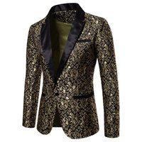 blazers masculinos venda por atacado-Slim Fit Blazer Homens 2018 New Arrival Mens Blazers Florais Floral Prom Vestido Blazers Elegante Blazer De Casamento e Terno Homens Jaqueta