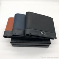 bolsas de regalo tarjetas de visita al por mayor-Nuevo monedero de negocios de cuero para hombres Corto multifunción MB Bolsa de regalo de lujo MT Titular de la tarjeta de crédito Foto de bolsillo M B Carteras