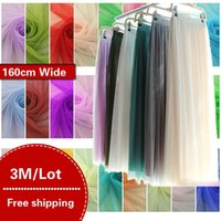 mosquito net fabric Australia - 3Meters Lot 36A Soft Mosquito Net Mesh Yarn Tulle Gauze Fabric Tutu Party Birthday Gift Wrap Wedding Decoration Sewing Patchwork