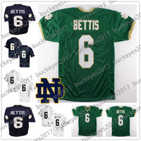 Notre Dame Fighting Irish  6 Jerome Bettis Green Vintage No Name Navy Blue  White Retro Stitched NCAA College Football Jerseys Free Shopping 7619a9ae4