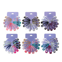 Wholesale kids hair snaps online - High Quality Print Hair Clips For Girls Kids Snap Clip Metal Colorful Hairgrip Headwear