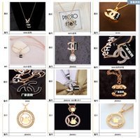 Wholesale American White Power - 2018 New Arrival Plated Gold White Gold Plated Design Crystal Pendant Necklace For Girl Women Free Shipping