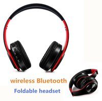 Wholesale General Wireless - Multi color folding wireless headset headset Bluetooth music motion card general wireless headset Foldable
