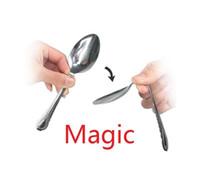 çocuk kaşıkları toptan satış-Sihirli hileci aklı ile bir kaşık bükme yakın çekim sihirli çocuk oyuncakları Çocuk Yılbaşı hediyeleri a845