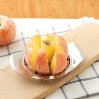 cortador de pera venda por atacado-Aço inoxidável cortador de maçã faca de frutas slicer apple corer pera cortadores faca descascador ferramenta de corte novo