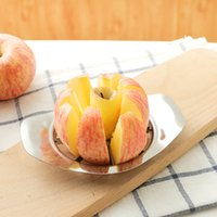 Wholesale pear corer slicer for sale - Group buy Stainless Steel Apple Cutter Fruit knife Slicer Apple Corer Pear Cutters Knife Peeler Cut Tool New