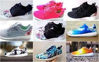 Wholesale Outdoor Lighting Flower - Cheap Fashion Men Women Running Shoe Blue Sky Black White Palm Trees Sunset Floral Flower Vintage Athletic Casual Sports Shoes Drop Ship