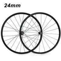 Wholesale 24mm carbon wheels - 700C 24mm Clincher Tubular 23mm Width 3K Carbon Wheels Road Bike Bicycle Wheel Racing Touring Wheelset
