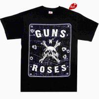 ingrosso banda n-2018 Summer Style Guns N Roses Street Sign S M L XL Maglietta ufficiale Rock Band Tshirt NewSummer Style Abbigliamento casual