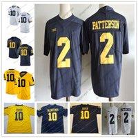 Wholesale bush men - Michigan Wolverines #10 Dylan McCaffrey Devin Bush 2 Shea Patterson Carlo Kemp Brady Woodson White Navy Blue Yellow College Football Jerseys