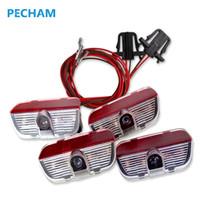 lamba işlevi toptan satış-4 adet LED Kapı 3D gölge Araba ışık logosu Oto lamba projeksiyon fonksiyonu ile VW TIGUAN CC Golf için MK6 JETTA MK5 PASSAT B6 B7